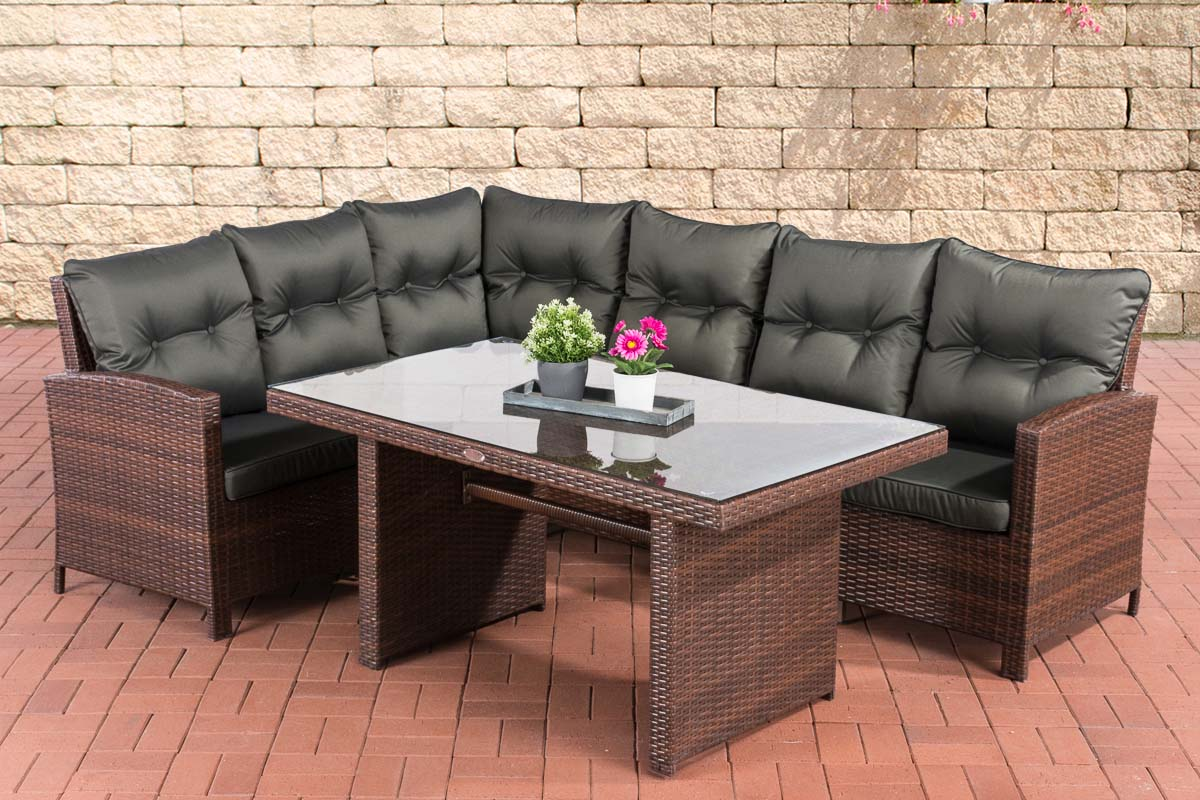 polyrattan gartengarnitur bermeo gartenset sitzgruppe lounge set rattanm bel ebay. Black Bedroom Furniture Sets. Home Design Ideas