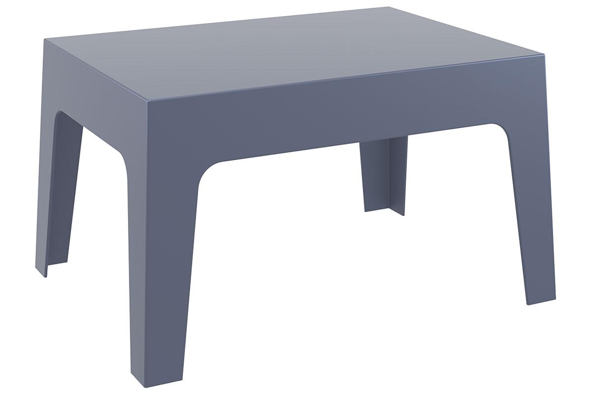 Design Garten Lounge Tisch BOX Kunststoff 70 x 50 cm stapelbar ...