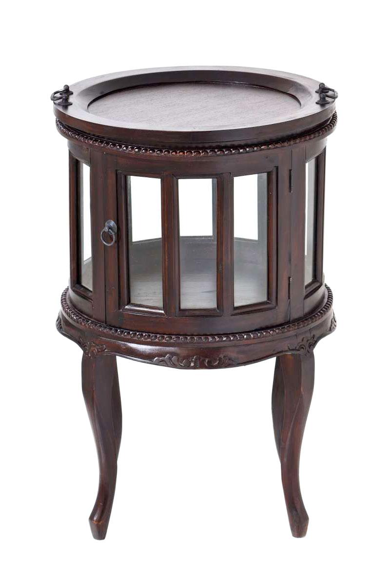 teetisch ace rund serviertisch beistelltisch holz telefontisch mahagoni ebay. Black Bedroom Furniture Sets. Home Design Ideas