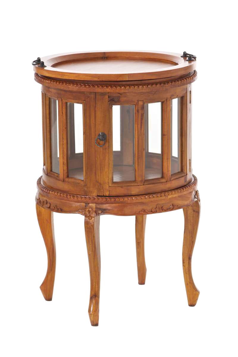 Großartig Beistelltisch Holz Rund Ideen Von Teetisch-ace-rund-serviertisch-beistelltisch-holz-telefontisch-mahagoni