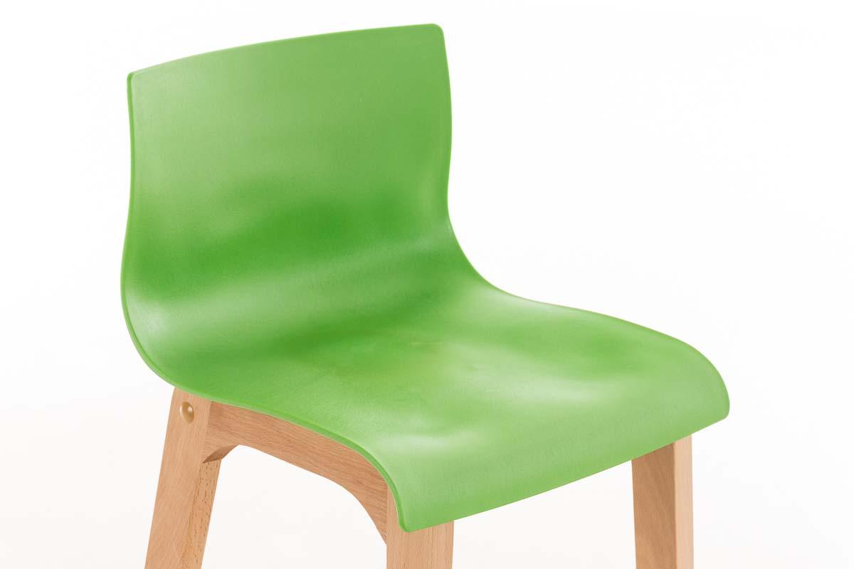 Tabouret de bar hoover chaise cuisine bois nature repose pieds pub