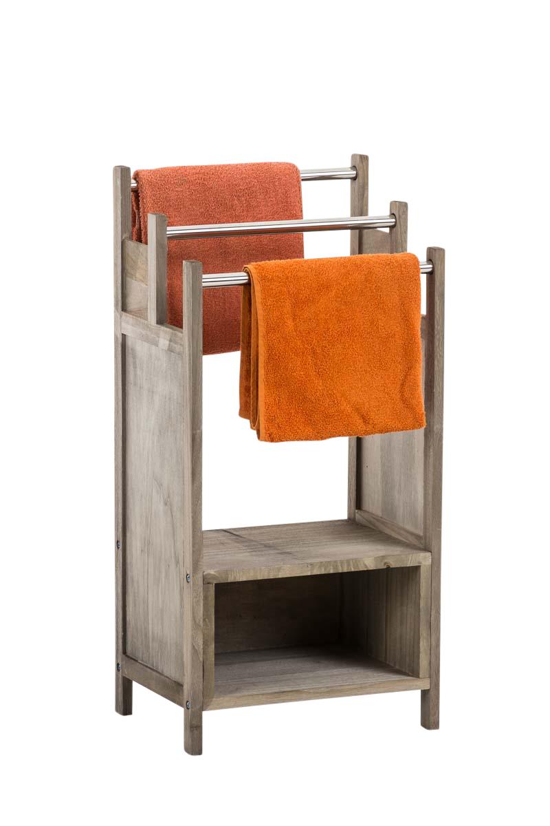 porte serviettes osaka bois tablette barre m tal rangement. Black Bedroom Furniture Sets. Home Design Ideas