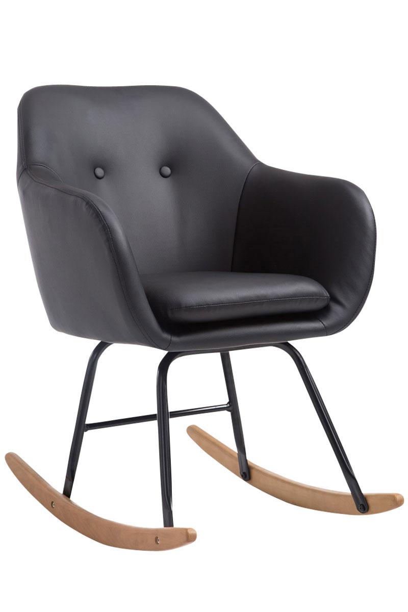 Fauteuil à bascule AVALON similicuir chaise métal design coussin ...