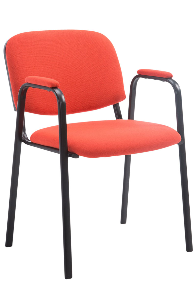 Chaise visiteur ken pro tissu accoudoir empilable r union - Chaise accoudoir tissu ...