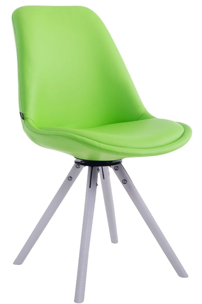 chaise visiteur calais similicuir pivotante fauteuil design scandinave bois neuf ebay. Black Bedroom Furniture Sets. Home Design Ideas