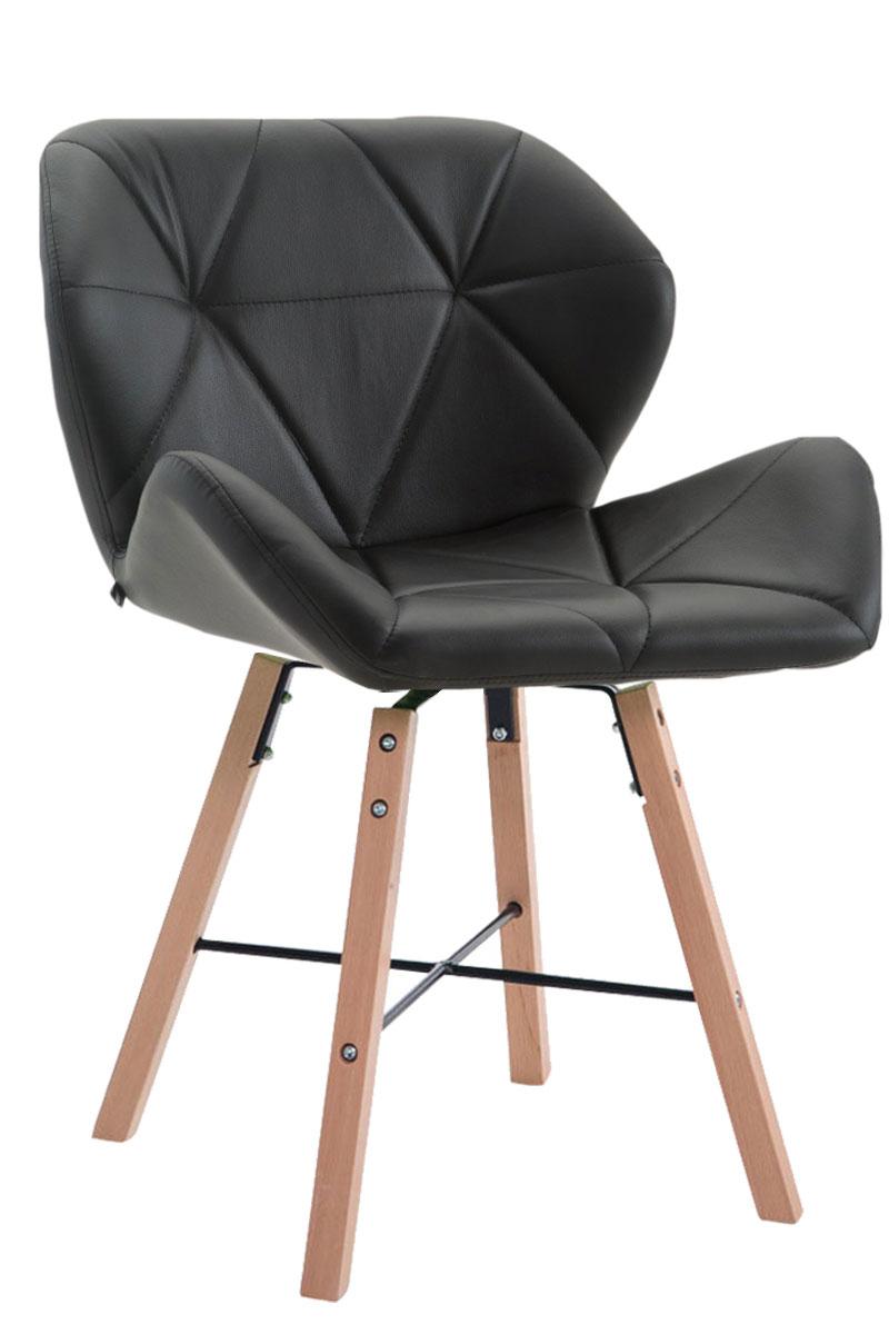 chaise visiteur brad en similicuir chaise design retro confortable rembourr e ebay. Black Bedroom Furniture Sets. Home Design Ideas